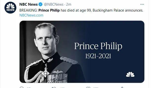 99岁,他去世了!最后时光和女王一起度过菲利普