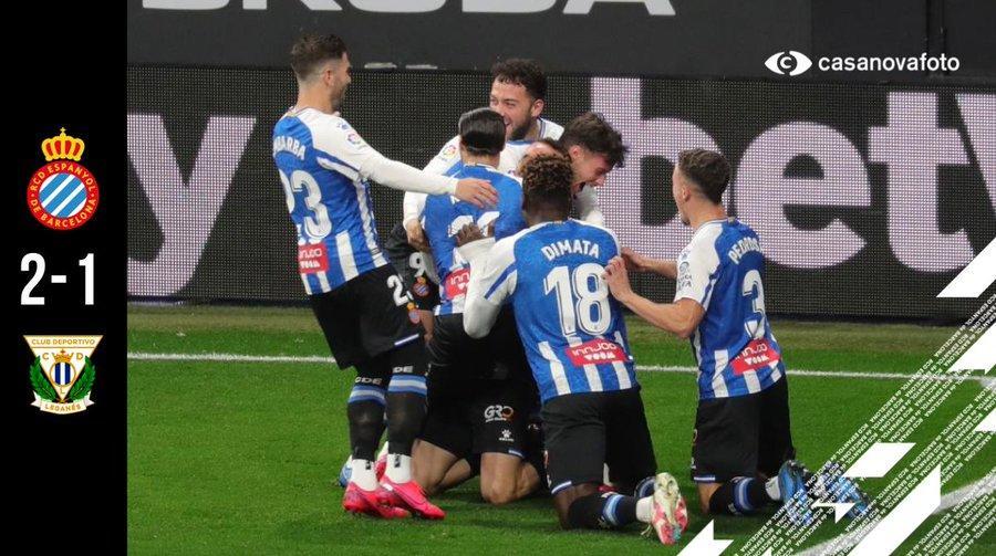 西乙-西班牙人2-1莱加内斯,武磊88分钟登场