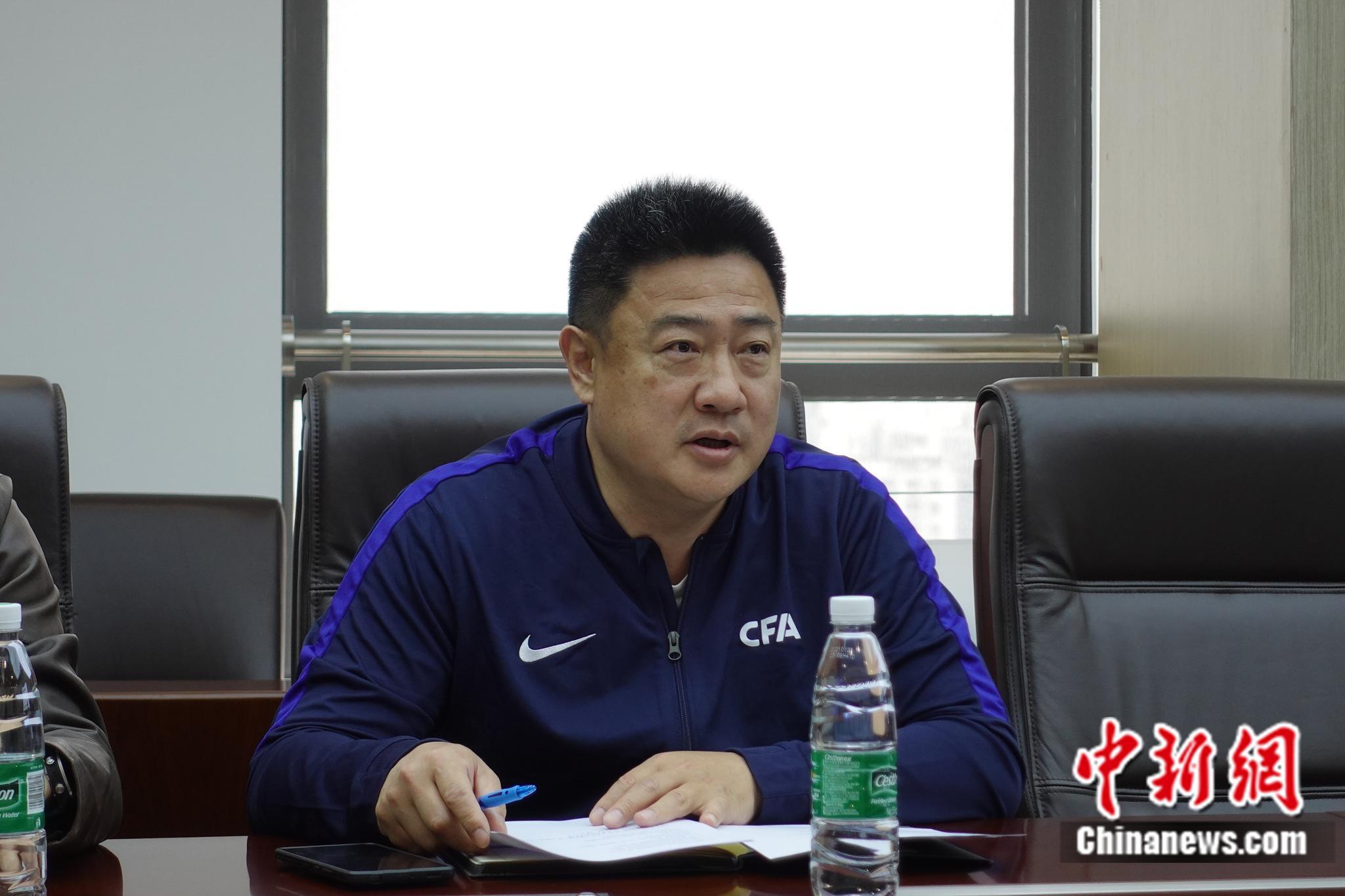 中国足协技术部部长唐峰。中新社记者 郝凌宇 摄
