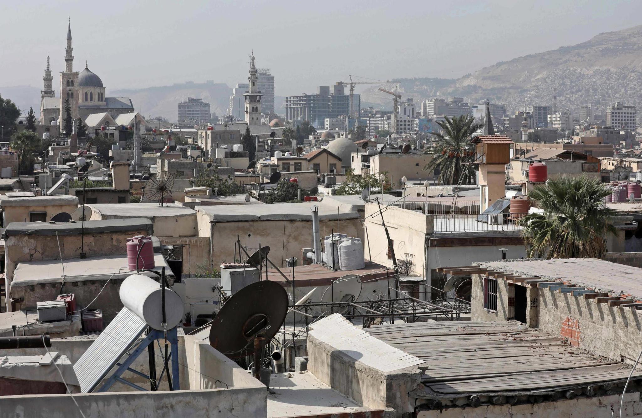 △2020年,大馬士革古城區