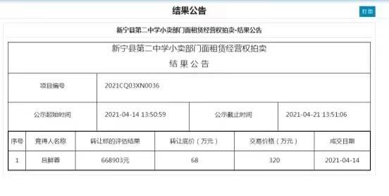 """新京报:中学小卖部拍出320万天价,谨防""""挟垄断以牟利"""""""