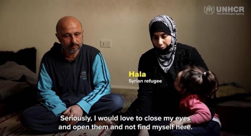 △敘利亞難民哈拉說,她真希望閉上眼后再睜開時,自己已經不在這里了,所有這一切都不是真的