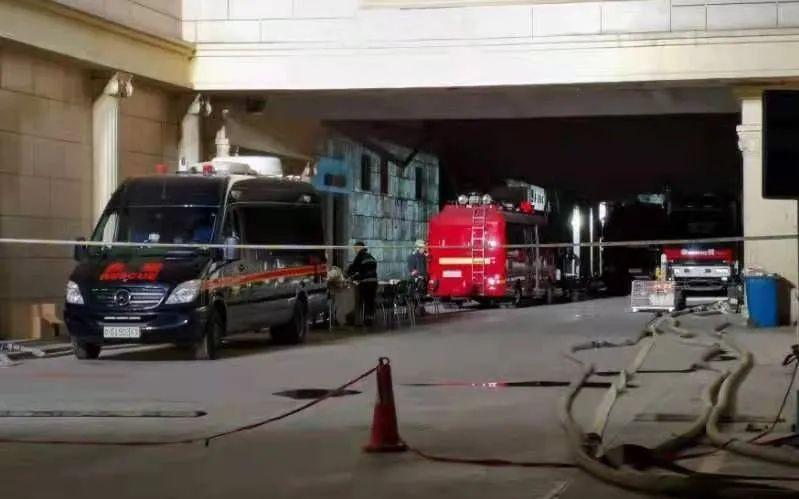 ▲事故现场拦起了警戒线。新京报记者 裴剑飞 摄