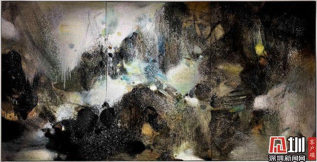 香港苏富比现代艺术晚间拍卖朱德群巨作《盛世雪》 成交超2亿