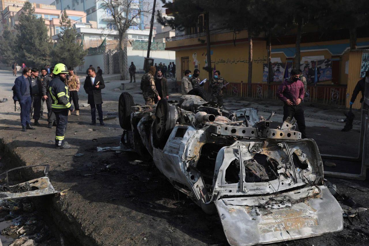 当地时间1月10日,阿富汗首都喀布尔发生自制炸弹袭击。/IC Photo