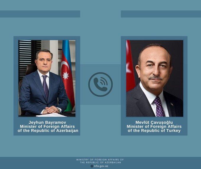 阿总统阿利耶夫当天与土耳其总统埃尔多安举行电话会谈 双方均表态谴责图源:阿塞拜疆外交部