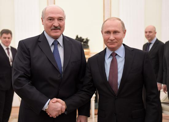 卢卡申科与普京会晤。图片来源:百度百科