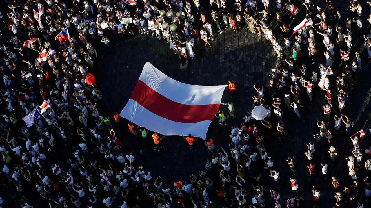 明斯克抗议活动。图片来源:维基百科