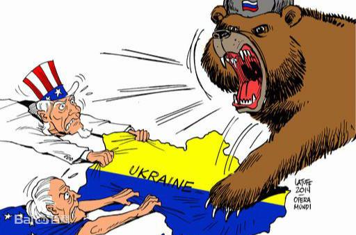 乌克兰危机漫画。图片来源:百度百科