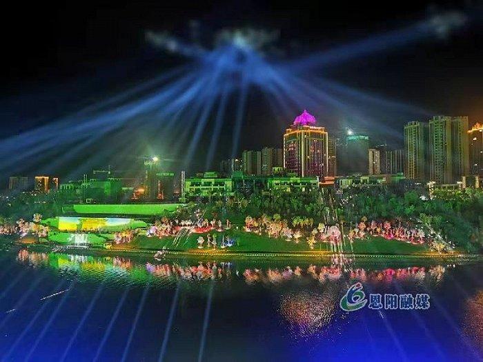 """四川巴中""""恩阳船说""""大型情境式夜游项目亮相"""
