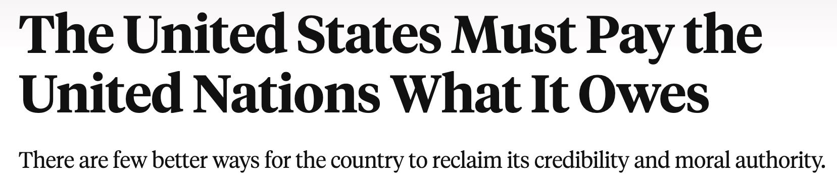 《外交政策》文章截图