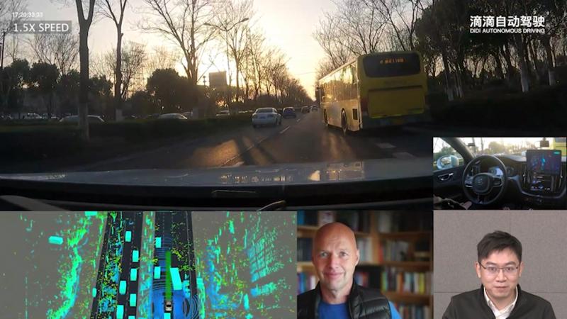 滴滴自动驾驶发布全球首个5小时无接管路测视频