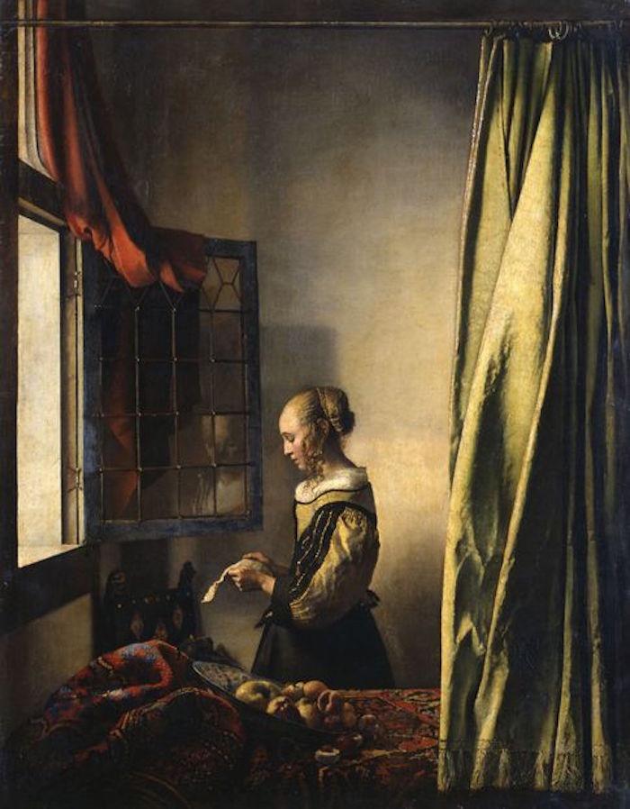 维米尔《窗边读信的女孩》,是个人面貌,也是复制时代