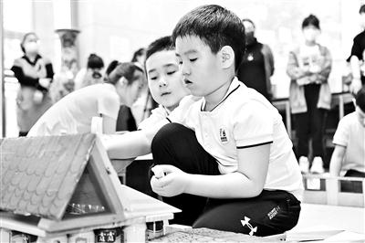 京西古道进课堂 同学巧搭四合院