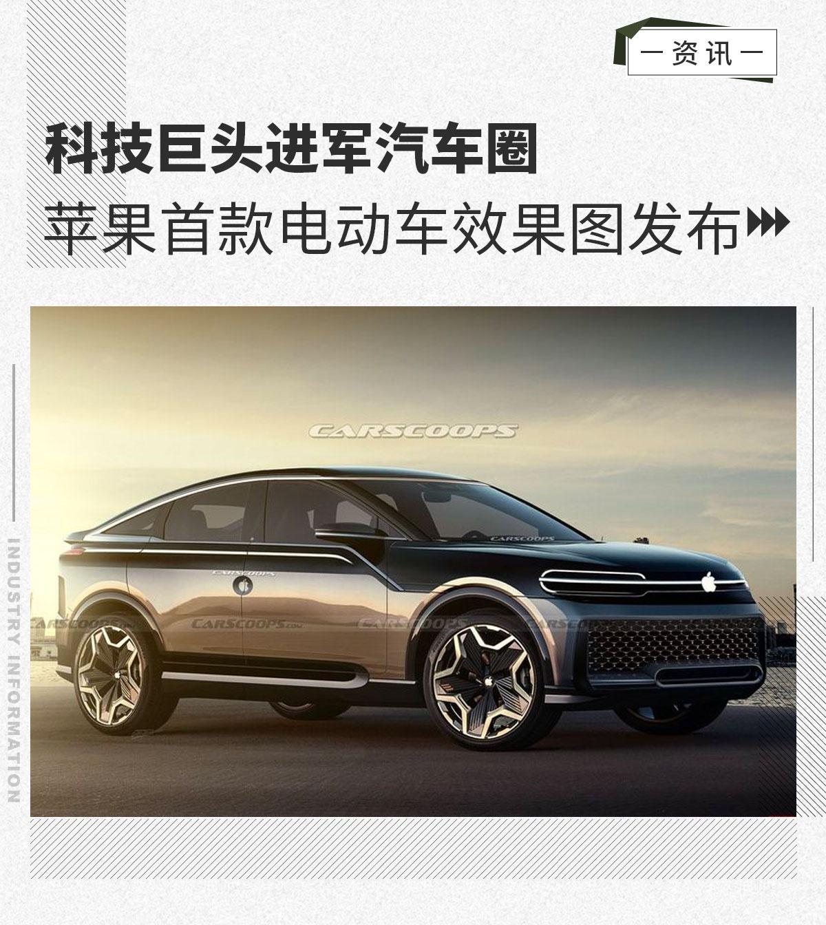 科技巨头进军汽车圈 苹果首款电动车效果图发布