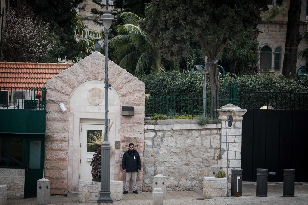 这是2019年3月4日拍摄的美国驻耶路撒冷总领馆外景。美国当天正式将负责巴勒斯坦事务的驻耶路撒冷总领馆并入驻以色列大使馆。新华社/基尼图片社