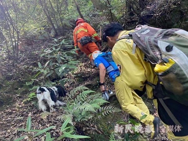 图说:救援队进山搜寻第三只在逃金钱豹 姜燕/摄