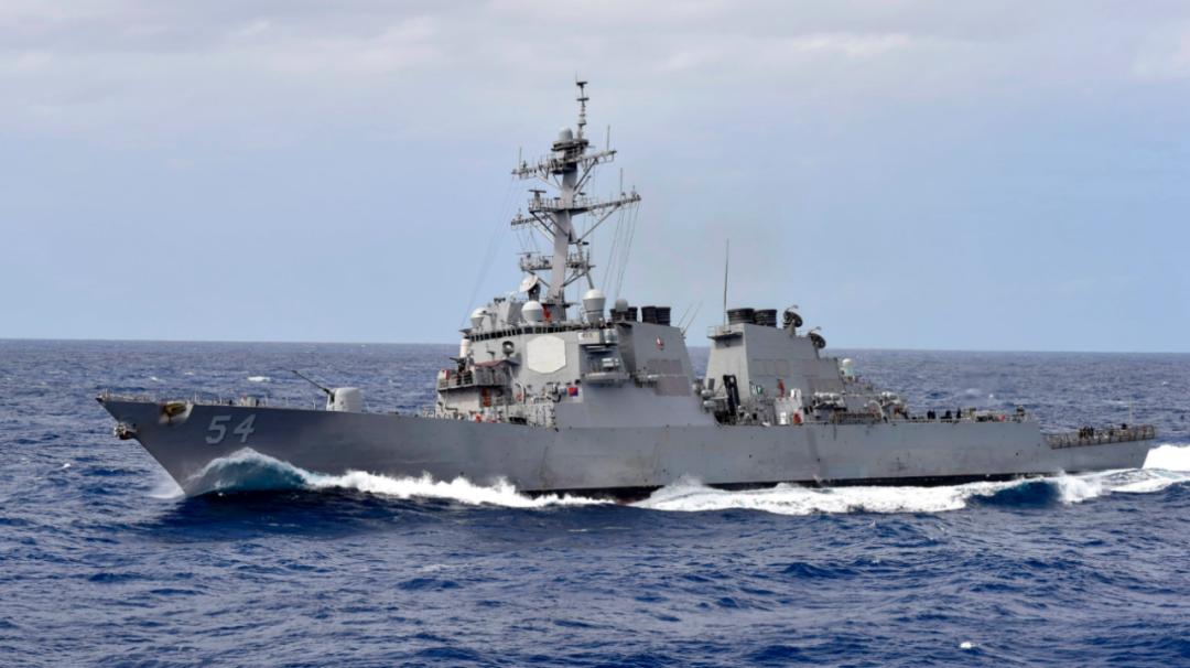 """美国海军""""柯蒂斯·威尔伯""""号驱逐舰(资料图)"""