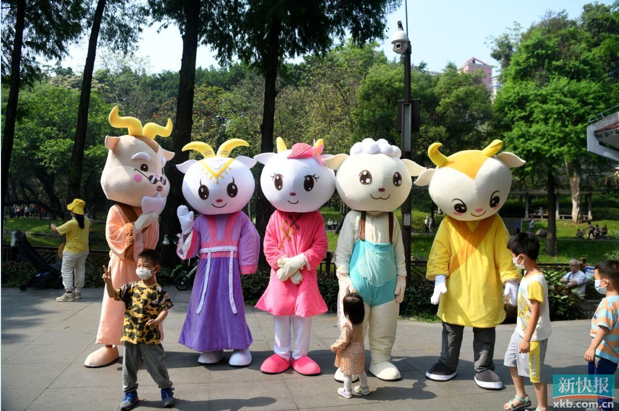 """越秀山""""五羊集""""开市 6月将举行越秀公园花灯展"""