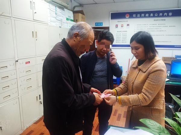 纳溪区东升司法所成功化解超龄农民工受伤赔偿纠纷