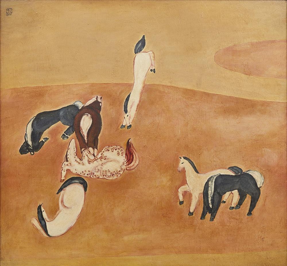 常玉巨作《群马》5月21日亮相深圳,明媚橘红色调在其创作生涯中仅两张