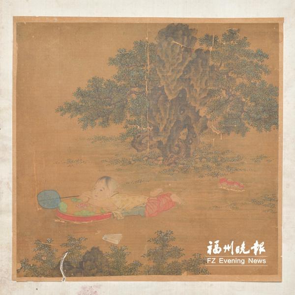 福州市博物馆探秘:《元佚名绢本婴戏图斗方》重现古代童趣