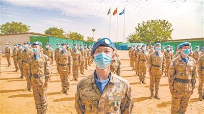 """我赴苏丹达尔富尔维和工兵分队官兵获联合国""""和平荣誉勋章"""""""
