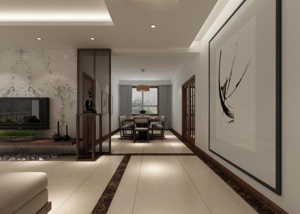 广州别墅装修:300㎡新中式联排别墅,充满意境的设计告诉你
