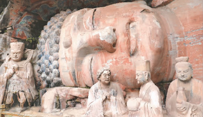 重庆大足石刻卧佛修复将进入最后阶段