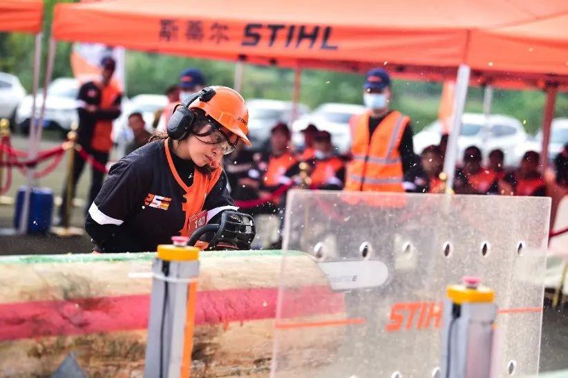 第五届斯蒂尔中国伐木大赛各赛区赛况激烈