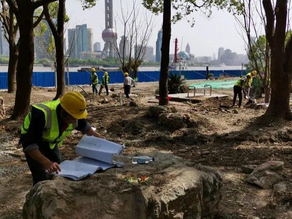 北外滩滨江景观提升改造项目现场