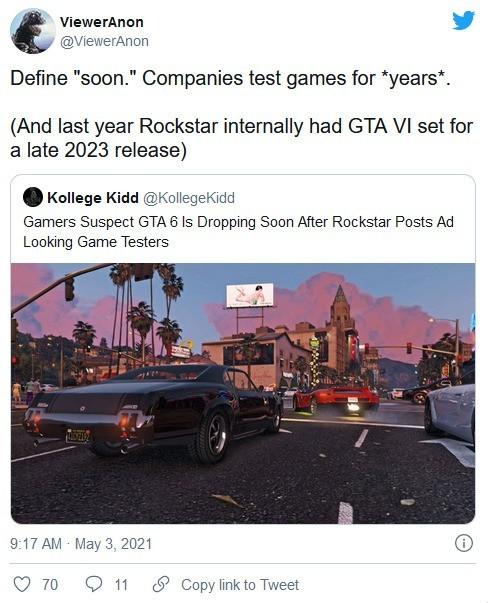 我知道你们在等《GTA6》 但两年内真的就没戏