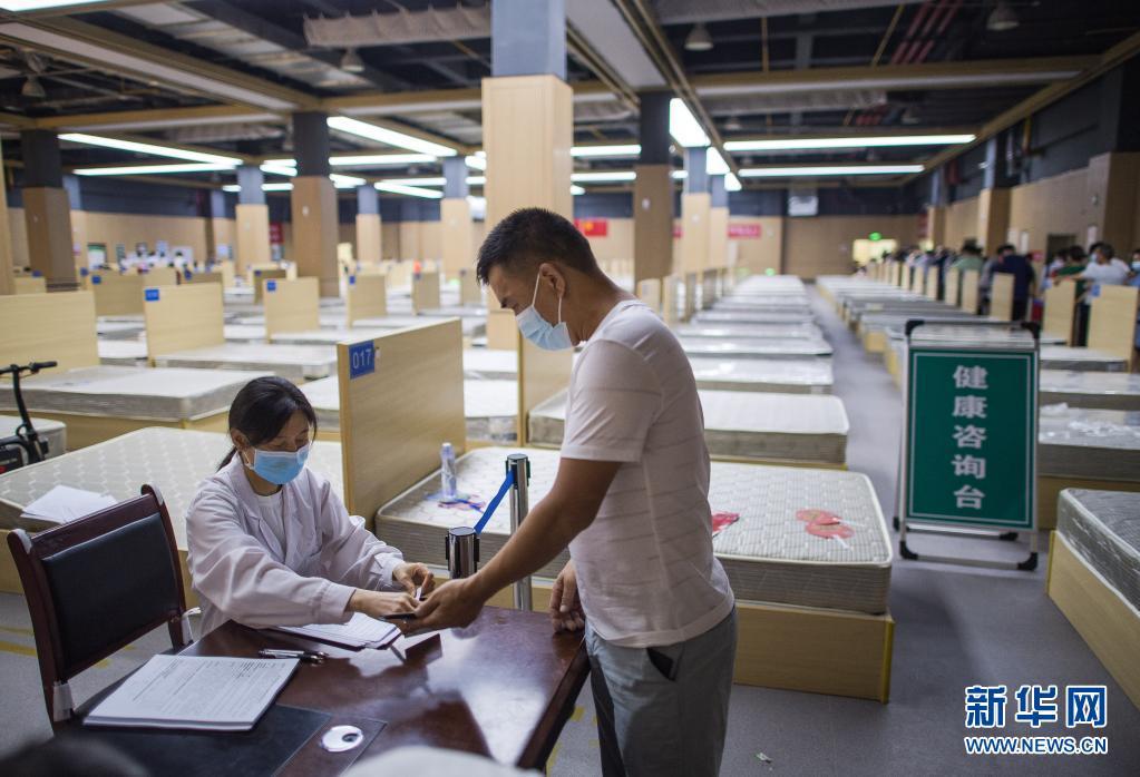 武汉:昔日方舱医院变身疫苗接种地【组图】