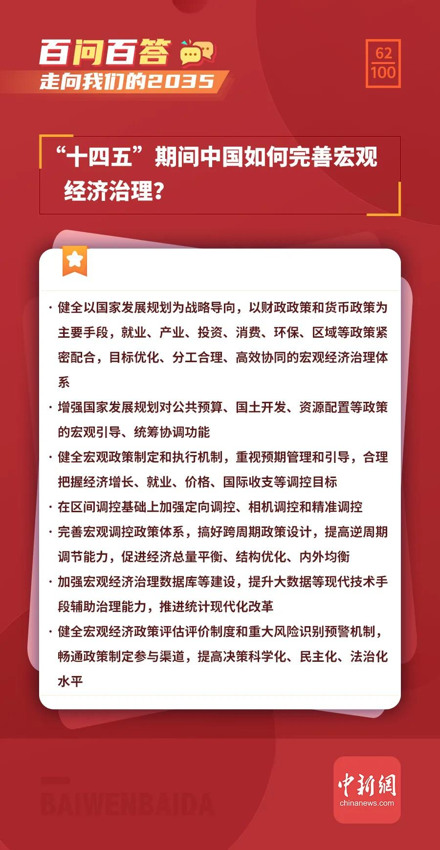 """【走向我们的2035·百问百答】""""十四五""""期间中国如何完善宏观经济治理?"""