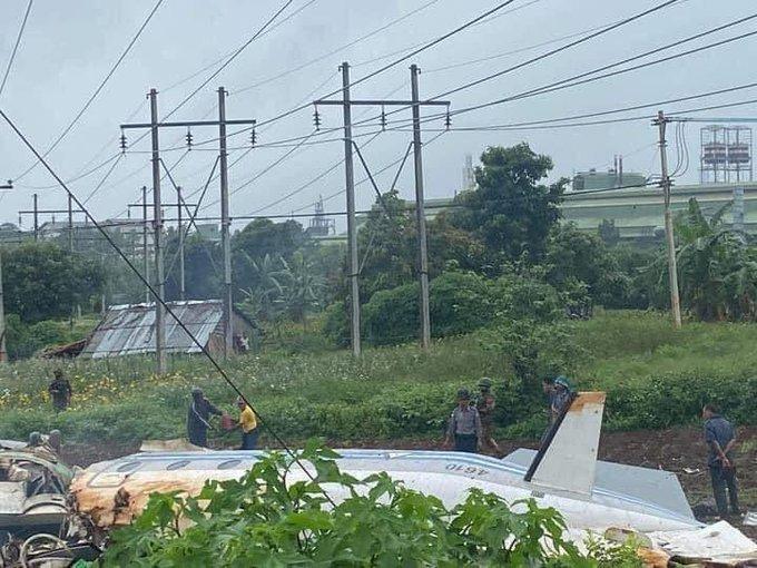 缅甸军机坠毁至少12人死亡 机上可能乘坐高级军官