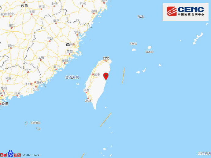 台湾花莲县接连发生两次地震,最高5.3级