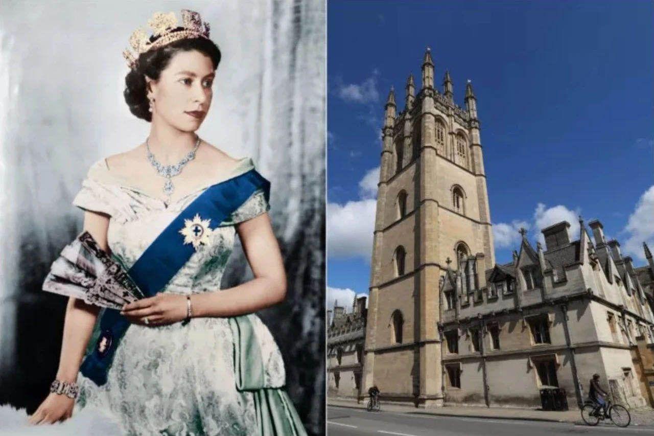牛津大学这张女王画像被学生移除,英国教育部长急了   京酿馆