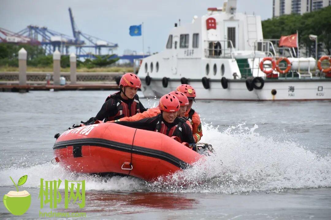 海口市消防救援支队完成集结抗洪抢险专业队伍拉动验收任务