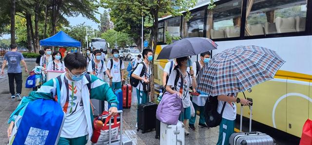 广东实验中学高三学生有序离校