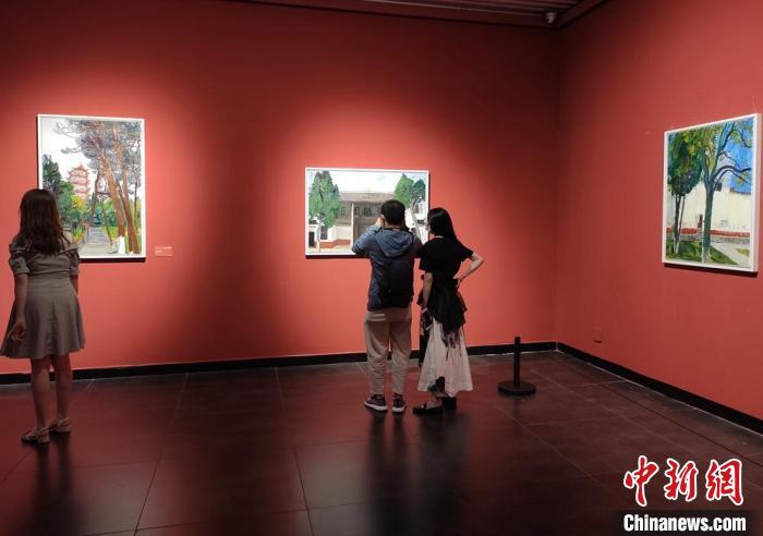 全国油画名家写生作品展开幕  展出百件艺术精品