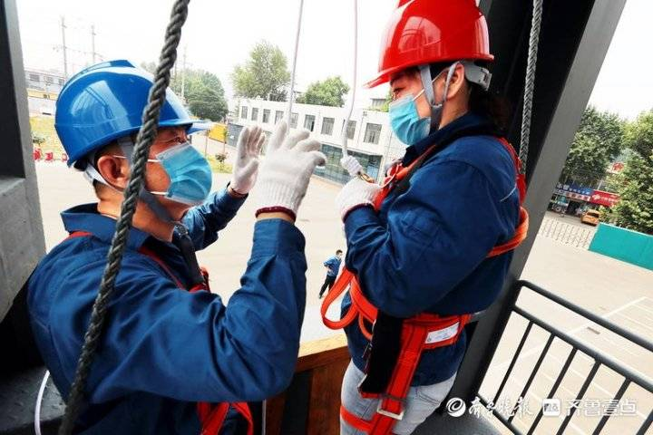 枣庄供电公司组织员工开展高层缓降实训