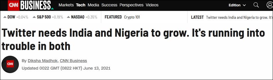 """""""尼日利亚不怕封禁推特,印度可能是下一个"""""""