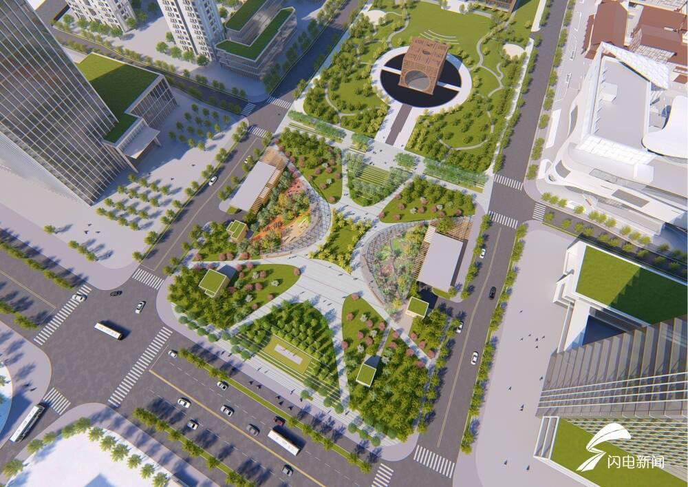 精致城市建设|日照东港区海曲广场计划7月初对外开放