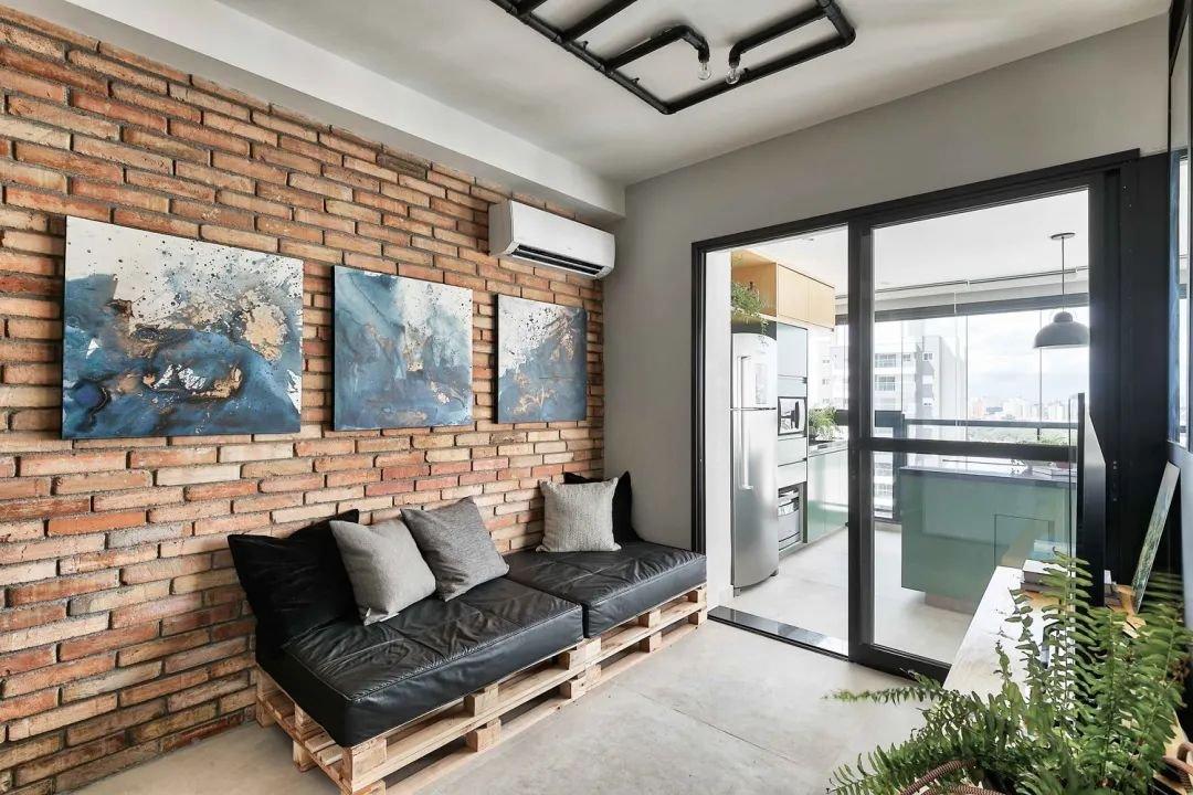 49㎡小户型单身公寓,现在流行的叙利亚风,构筑出简净冷冽的氛围