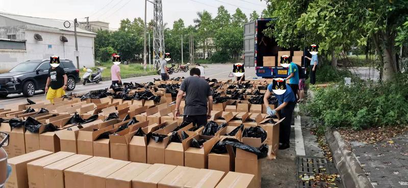 江门鹤山警方破获一起销售假冒注册商标的商品案