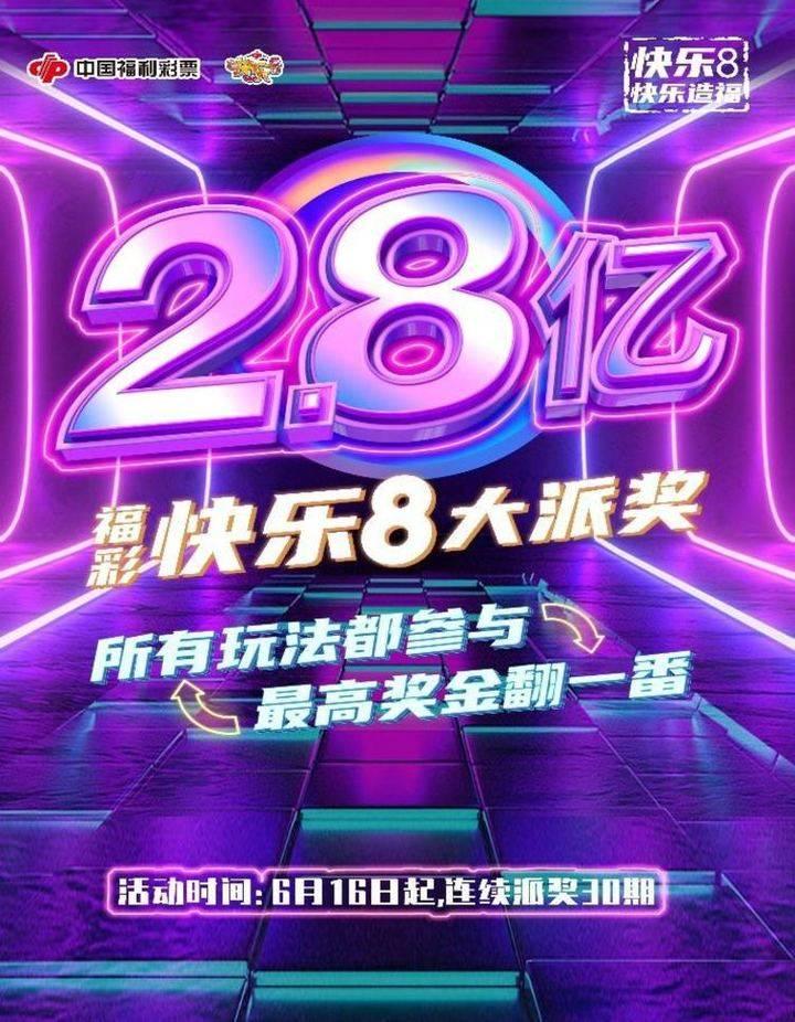 @烟台人,福彩快乐8游戏2.8亿元大派奖强势来袭!