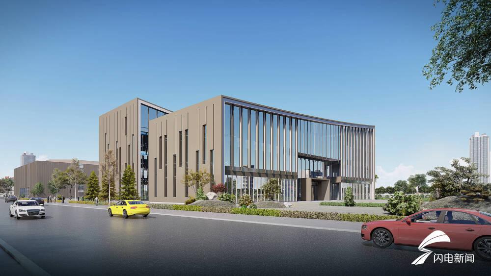 精致城市建设|日照东港区海曲图书馆档案馆计划7月竣工开放
