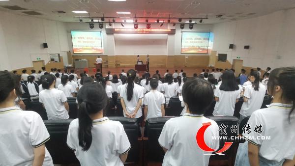 贺州市开展国防教育宣讲进校园活动