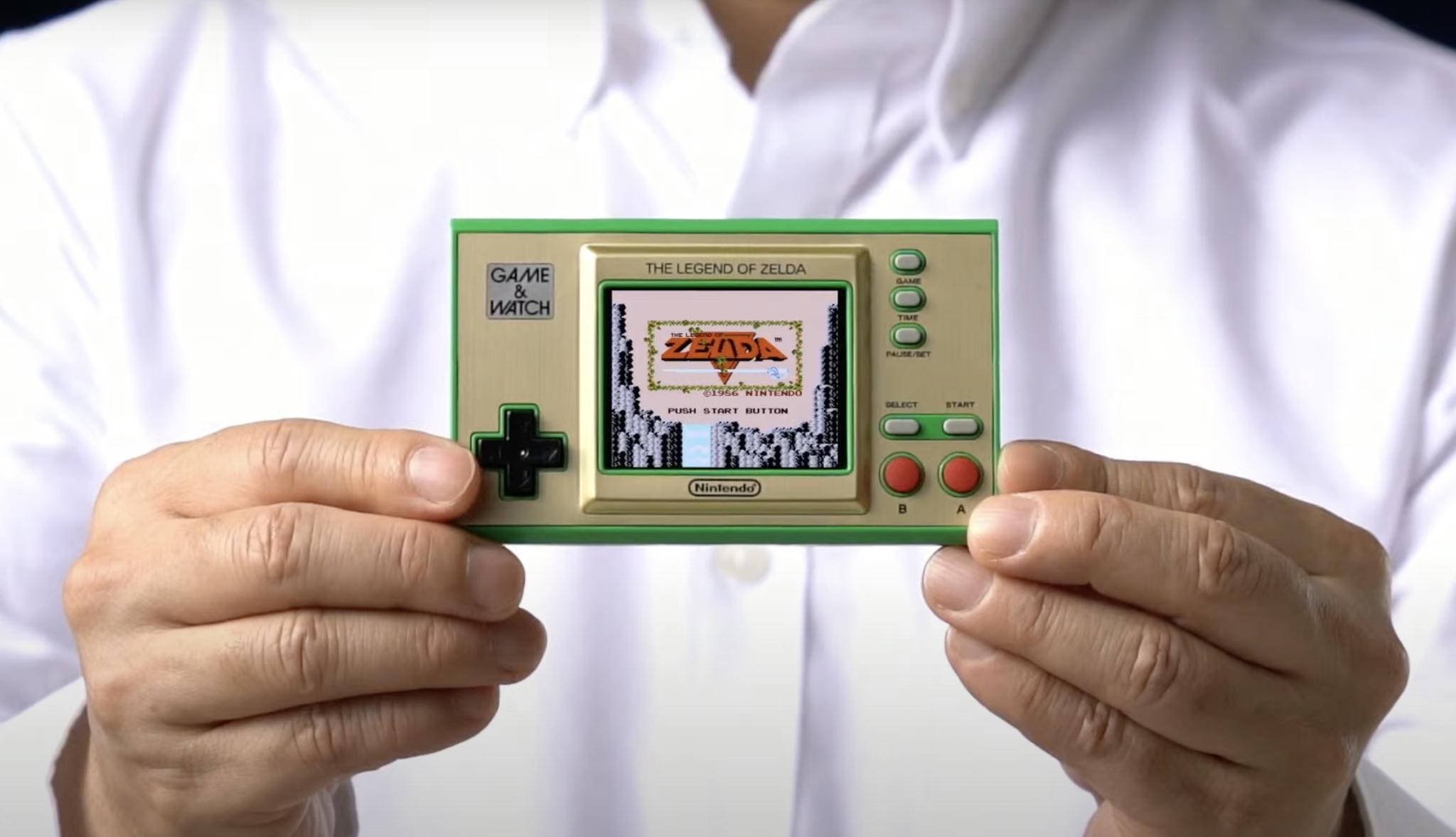 任天堂推出一款Game & Watch复刻版掌机:内置四款《塞尔达》游戏
