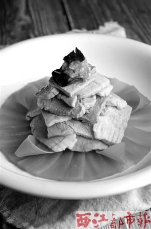 西安美食:炝白肉